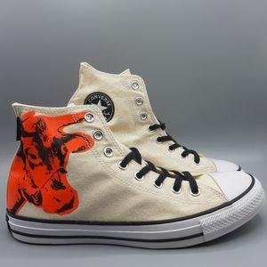 New Converse Andy Warhol Hi Top COW PRINT Pop Art